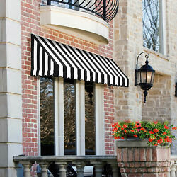 Awntech Window/entry Awning 8and039 4 -1/2w X 4and039d X 3and039 8h Black/white