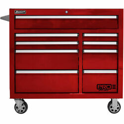 Homak Rd04041092 Pro Ii Series 9 Drawer Red Roller Tool Cabinet, 41w X 24-1/2d