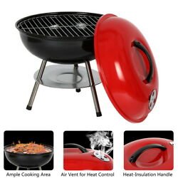 Bbq Grill Smoker Charcoal Outdoor Camping Patio Wood Barbeque Oven Portable