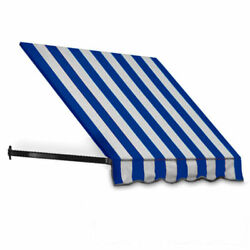 Awntech Window/entry Awning 8and039 4-1/2 W X 2and039d X 2and039 7h Bright Blue/white
