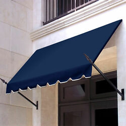 Awntech Spear Arm Awning 10-3/8and039w X 3-11/16and039h X 2and039d Navy