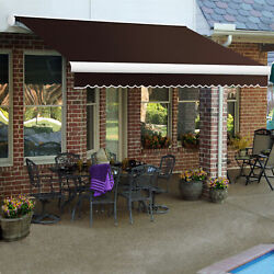 Awntech Right Motor Retractable Awning 10and039w X 8d X 10h Brown