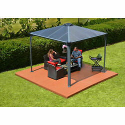 Poly-tex Palermoand8482 Hg9150 3000 Gazebo 10and039l X 10and039w Gray/bronze 702425
