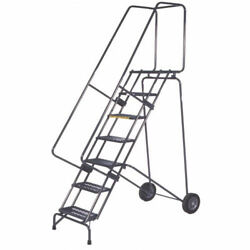 Ballymore Ssfawl-8p 8 Step 16w Stainless Steel Fold And Store Rolling Ladder