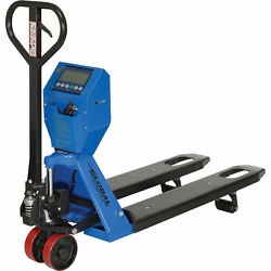 Low Profile Scale Pallet Jack Truck, 5000 Lb. Capacity, 22 X 48 Forks