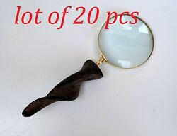 Vintage Brass Magnifying Glass With Beautiful Horn Design Handle Table Top Gift