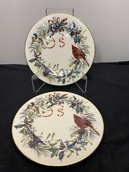 6 Lenox Winter Cardinal 8andrdquo Salad Plates And 6 Dinner Plates For V