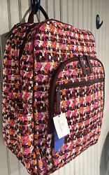 🎒VERA BRADLEY Iconic Campus Tech Backpack HOUNDSTOOTH TWEED Laptop $108 NEW $34.98