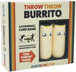 Throw Throw Burrito By Exploding Kittens A Dodgeball Card Game Family Friendly