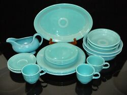 Homer Laughlin Fiesta Ware Turquoise Post-1986 Dinnerware. From 1.95 Per Piece