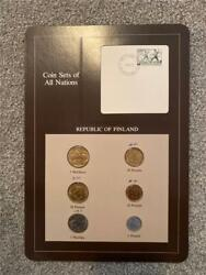 Republic Of Finland Coin Sets Of All Nations Stamped Page 1982
