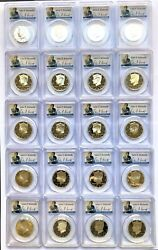 Set Of 20 Silver Kennedy Half Dollar Coins 1992-2011 Graded Pf69 Dcam By Pcgs