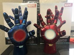 Marvel Hot Toys 2 Iron Man Heroic Hands Red And Blue