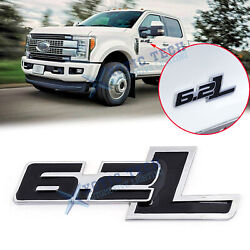 1x Metal 6.2l Emblems Badge Stickers For Ford F-150 F-250 F-350 Chevrolet Camaro