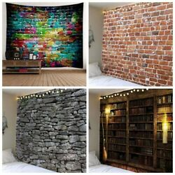 Stone Brick Tapestry Wall Hanging Tapestries Living Room Home Decor USA Store