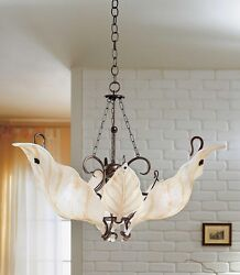 Suspended Lights Classic Metal And Glass Brown Amber