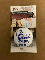 Jim Kiick Autographed Signed Golf Ball With Jsa Cert. Inscribed 17-0