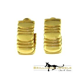 Vintage 1992 Casque Dand039or And039helmet Of Goldand039 Wide Yellow Gold Earrings