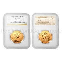 Great Britain 1984 5 Sovereign Gold Ngc Ms68 Sku4058