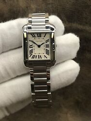 Tank Anglaise W5310022/3485 Silver Dial Quartz Womenand039s Watch