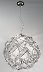 Chandelier Hanging Classico Chrome With Crystal Clear
