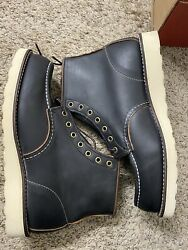 Red Wing 8849 Classic Moc Menand039s 6-inch Boot Black Prairie Leather Brandnew