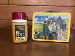 1978 Little House On The Prairie Metal Lunch Box And Thermos, , Laura Ingalls