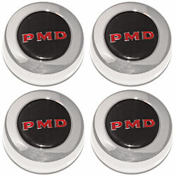 Year One Pd101s Pontiac Center Caps Black With Red Pmd For Rally Ii Wheels 4/pkg