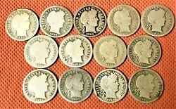 13 Barber Dime Coins From 1892-1916 See List In The Description 💥💥💥💥💥💥💥