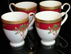 Mikasa L3468 Palatial Holly Gold Mugs Near Mint, 8 Avail. With Multi-discount