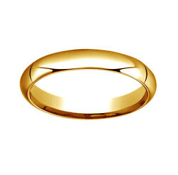14k Yellow Gold 4mm High Dome Heavy Comfort-fit Wedding Band Ring Size 12