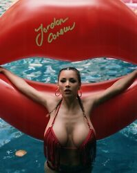 Jordan Carver Glamour Model Signed 8x10 Photo 17d Zoo Weekly Maxim Mexico