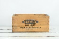 Large Vintage Wood Shipping Crate Daily Standard Die Set Gary Ind Wood Box