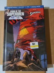 Reign Of The Supermen Blu-ray/dvd Plus The Death Of Superman Graphic Novel New