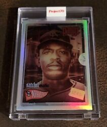 2021 Topps Project 70 Card 53 Satchel Paige Rainbow Foil 4/70 -by Dj Skee