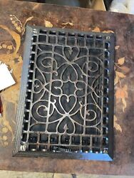 Ted9 Antique Wall Mount Heat Grate Cleaned Lacquer 9 7/8 X 13 5/8