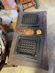 Ted7 2available Price Each Antique Heat Grate With Frame 13 X 15.25