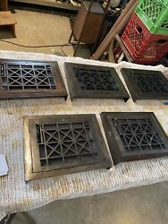 Ted 13 Five Av Price Each Antique Wall Mount Heat Grate Cleaned 10.75 X 13.5