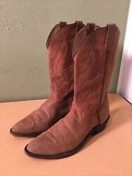 Vintage Mens J. Chisholm Suede Leather Cowboy Boots Size 10.5 D Made In Usa
