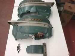 Set Of Covers From A 1952 25 Hp Evinrude Outboard Motor