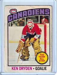 1976-77 O-pee-chee 200 Ken Dryden 1st Team All-star - Montreal Canadiens - B