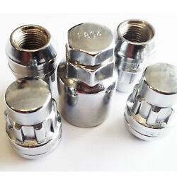 4 X M12 X 1.50 Locking Wheel Nuts Tapered Seat Silver With Key Ford Mondeo Kuga