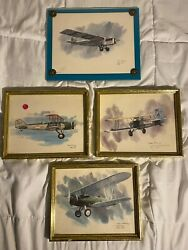 United Airlines Nixon Galloway 1976 Prints Of Early Aircraft - Airplanes