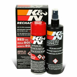 Kandn99-5000 Air Filter Cleaning Cleaner Oil Recharger Combo Kit