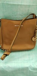 Michael Kors Jet Set Travel Lg Acorn Messenger Leather Crossbody Bag Handbag $70.00