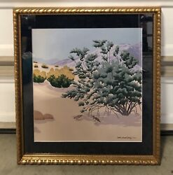 Joanne Casey Signed Limited Edition Lithograph Art Two Californian Desert Quails