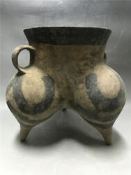Chinese Old Neolithic Hongshan Culture Pottery Horse Milk Pot Tank Jar