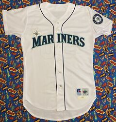 Authentic Vintage Russell Athletic 1996 Mlb Seattle Mariners Jamie Moyer Jersey