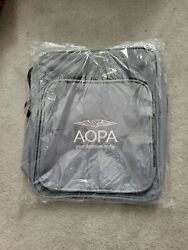 Aopa Pilot Headset Bag With Strap Gray Embroidered New In Package
