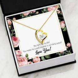 Gift For Fiancee Light Up My Life Forever Love Necklacecz Heart Pendant Stainles